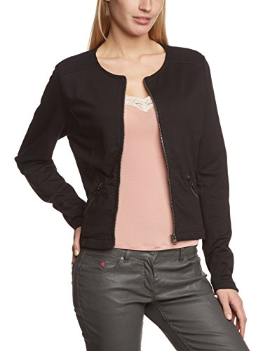 tom tailor denim damen jacke jersey biker jacket 312 gr 38 herstellergr e m schwarz. Black Bedroom Furniture Sets. Home Design Ideas
